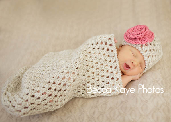 Crochet Flower Cocoon Pattern Free : Crochet Pattern - Newborn Bunting Cocoon and Hat ? Petals ...