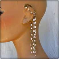 Bronze and White Ear Cuff