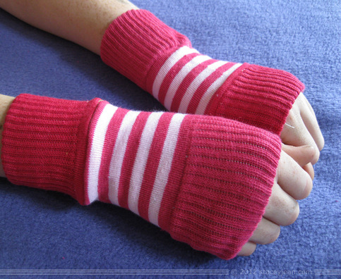 Pink Striped Arm Warmer