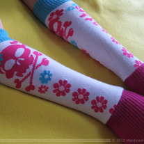 Skulls and Flowers Arm Warmers