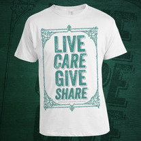 Live Care Give Share Shirt
