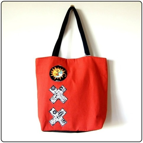 Orange Tic Tac Toe Tote - Mother's Day Special - Was $62 Now $40