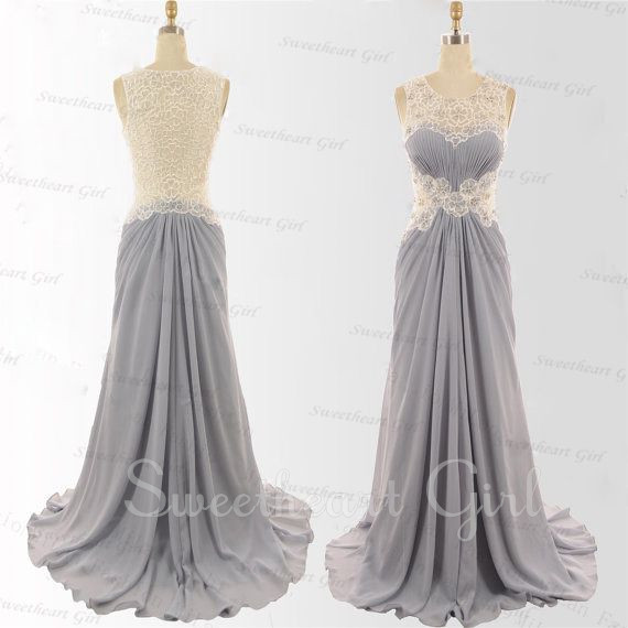 Sweetheart Girl | Charming Chiffon Floor-Length Lace Prom Dress ...