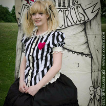 Gloomth's Haunted Circus Pierrot Corset Blouse