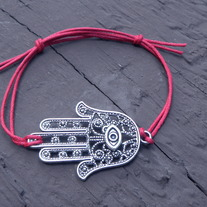 Big Hamsa Bracelet made with Chord