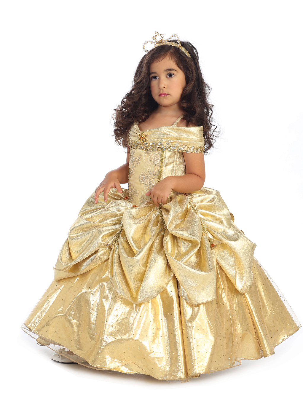 ... Deluxe Gold Belle Costume - Thumbnail 2  sc 1 st  Butterfly Kisses - Storenvy : belle costumes for toddlers  - Germanpascual.Com
