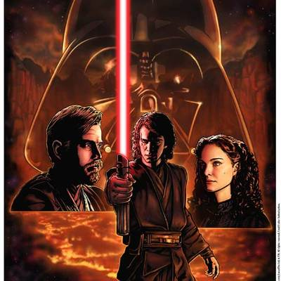 Revenge of the sith star wars celebration iii limited edition print