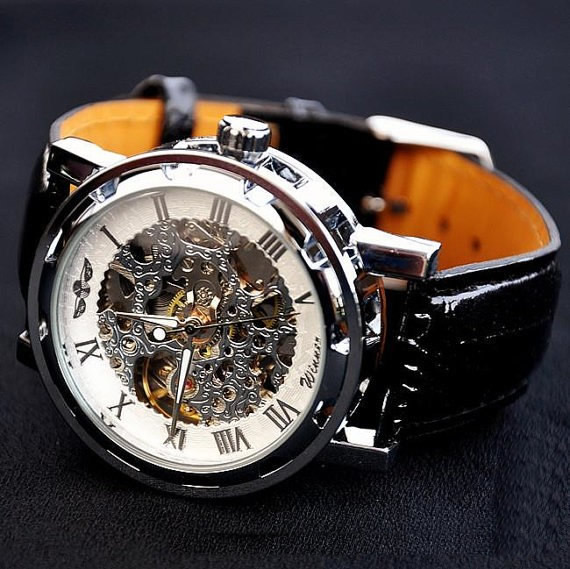 mens watches vintage watches handmade watches leather band watches automatic mechanical watches