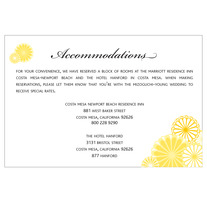 printable wedding enclosure card | kiku