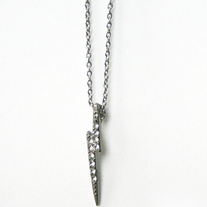 Gunmetal Lightning Bolt Necklace