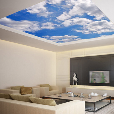 Ceiling sticker mural sky heaven clouds airly air decole for Ceiling mural clouds