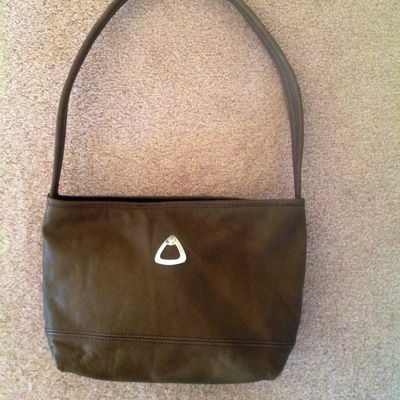 Olive green leather purse