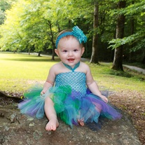 Peacock Tutu Dress for Baby to Toddler Girls