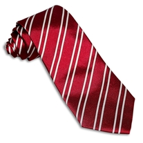 Red Repp Stripe Tie
