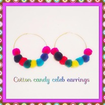 Cotton Candy Celeb Style Earrings