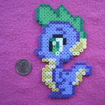 Spike the Dragon My Little Pony Perler Bead Sprite
