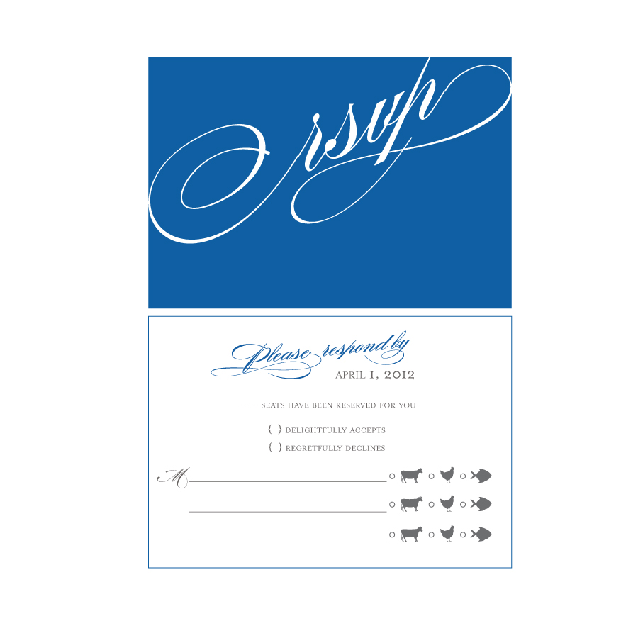 Printable Wedding Card The response card size is