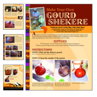 Make your own shekere (african instrument) tutorial