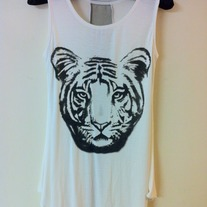 Rawr! Loose Top in White