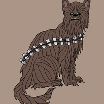 Chewbacca cat, 5x7 print