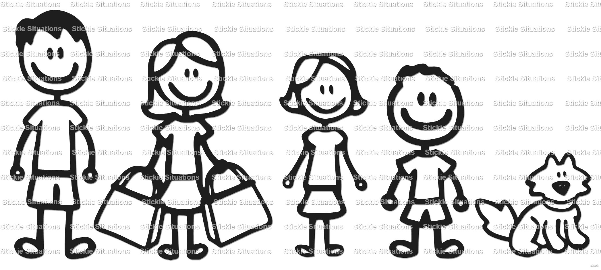 stick family car decal stickie situations online store powered rh stickiesituations storenvy com