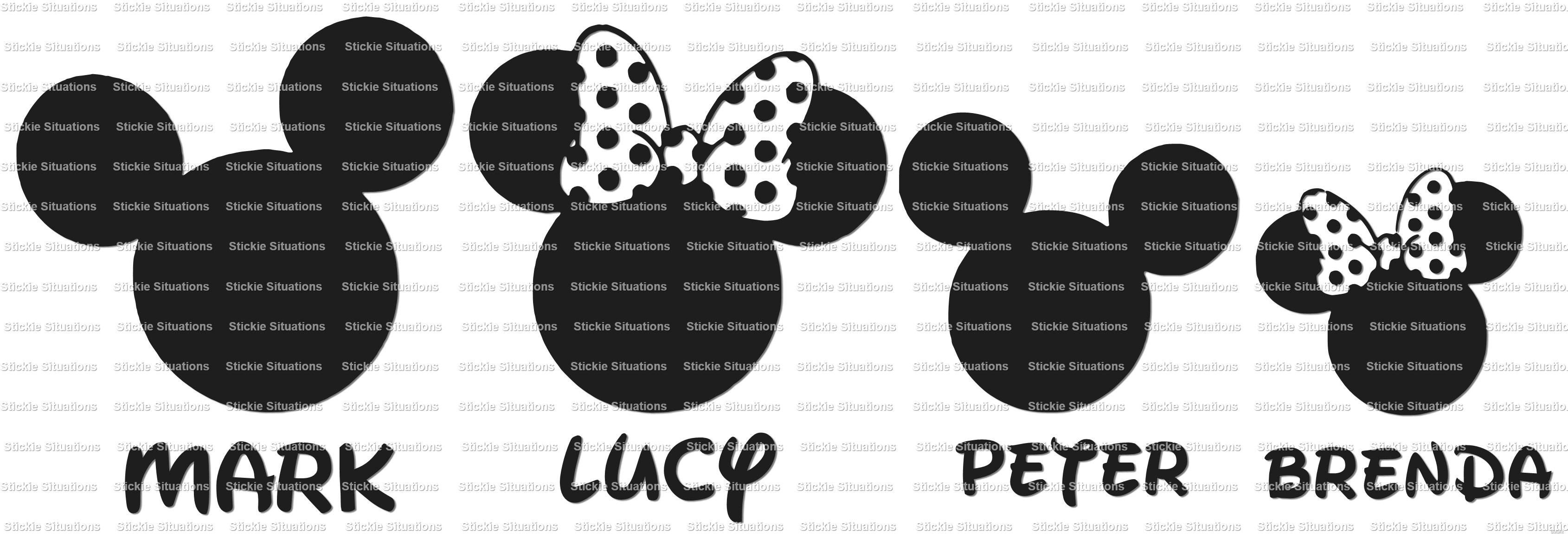 Personalized Disney Family Car Decal