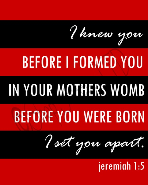 Jeremiah 1:5 - Red & Black