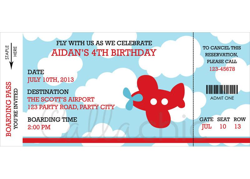Children Birthday Invitation Themed Party Stickers Baby Full
