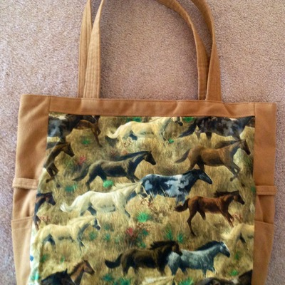 Horses all over tote!