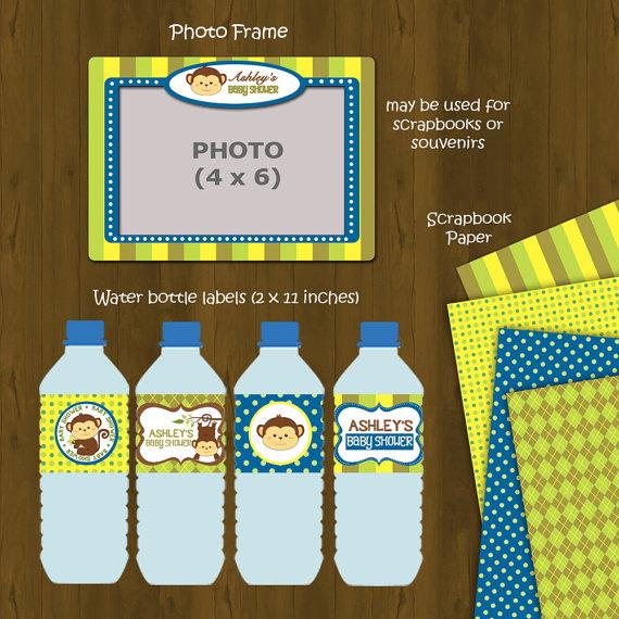 monkey printable baby shower package splashbox printables online