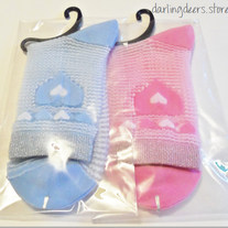 Pastel Heart See-Through Socks