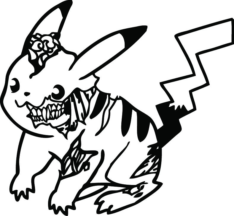 zombie pikachu coloring pages - photo#26