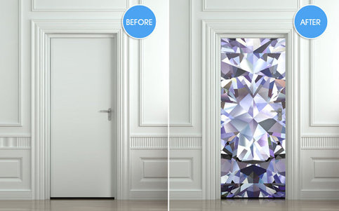 Wall Door Sticker Poster Diamond Shimmer Shine Bling
