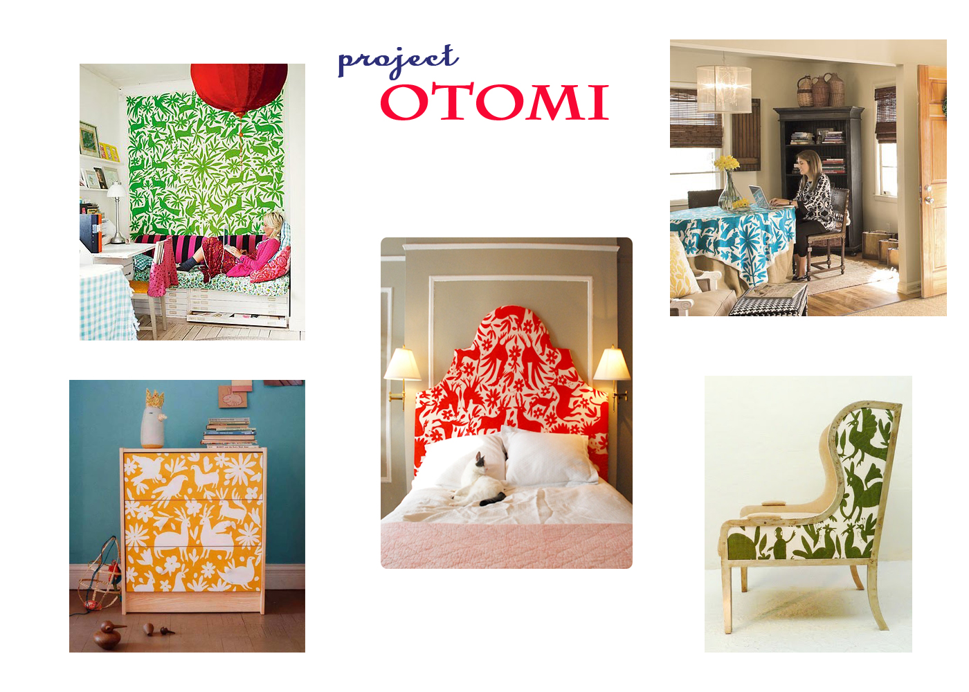 Mexican Home Decor Mexican Otomi Fabric Textiles Allover Designer Pattern Stencil