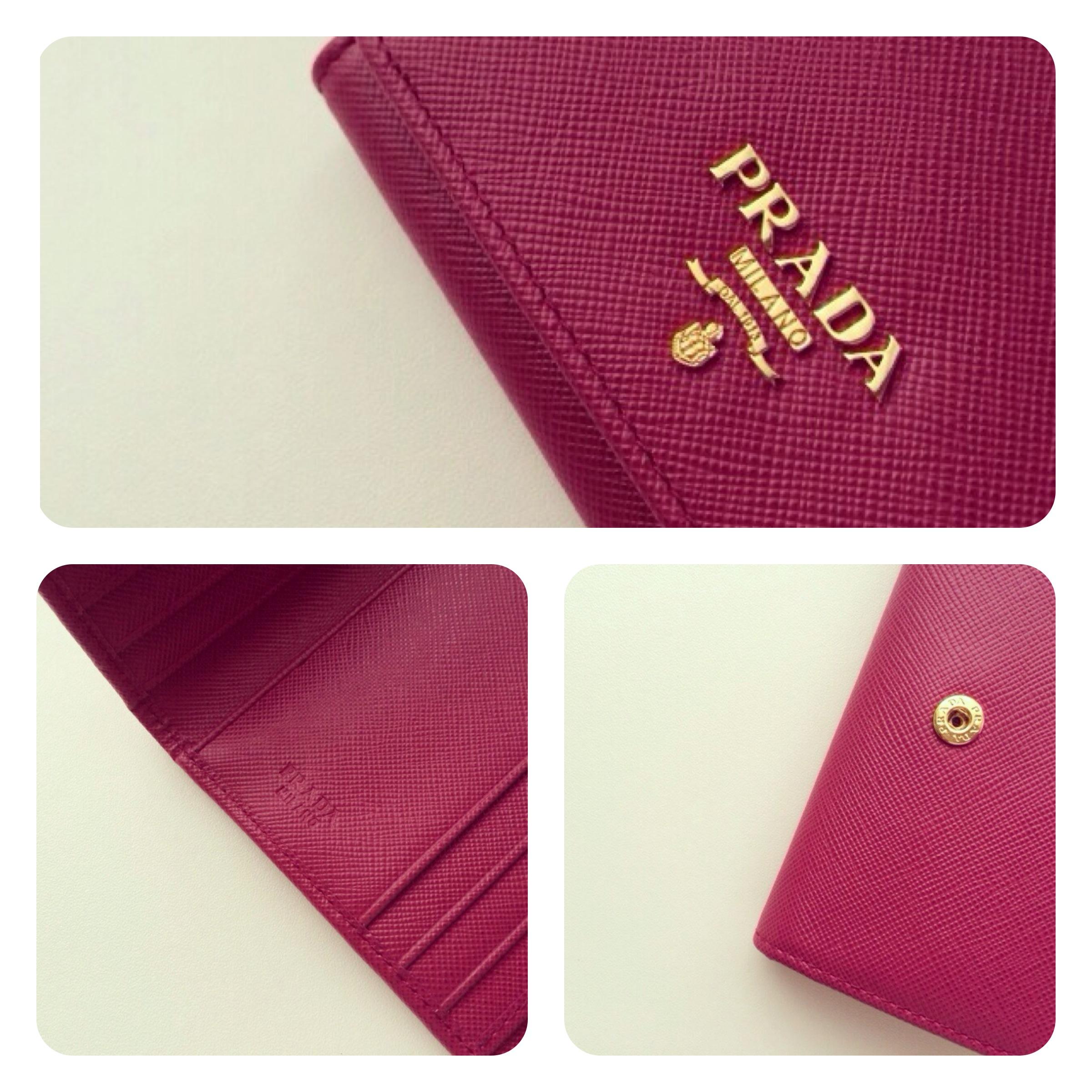 7dd21a2355f9d8 ... Thumbnail 3 · PRADA Saffiano Ibisco Tri-Fold Wallet - Thumbnail 4
