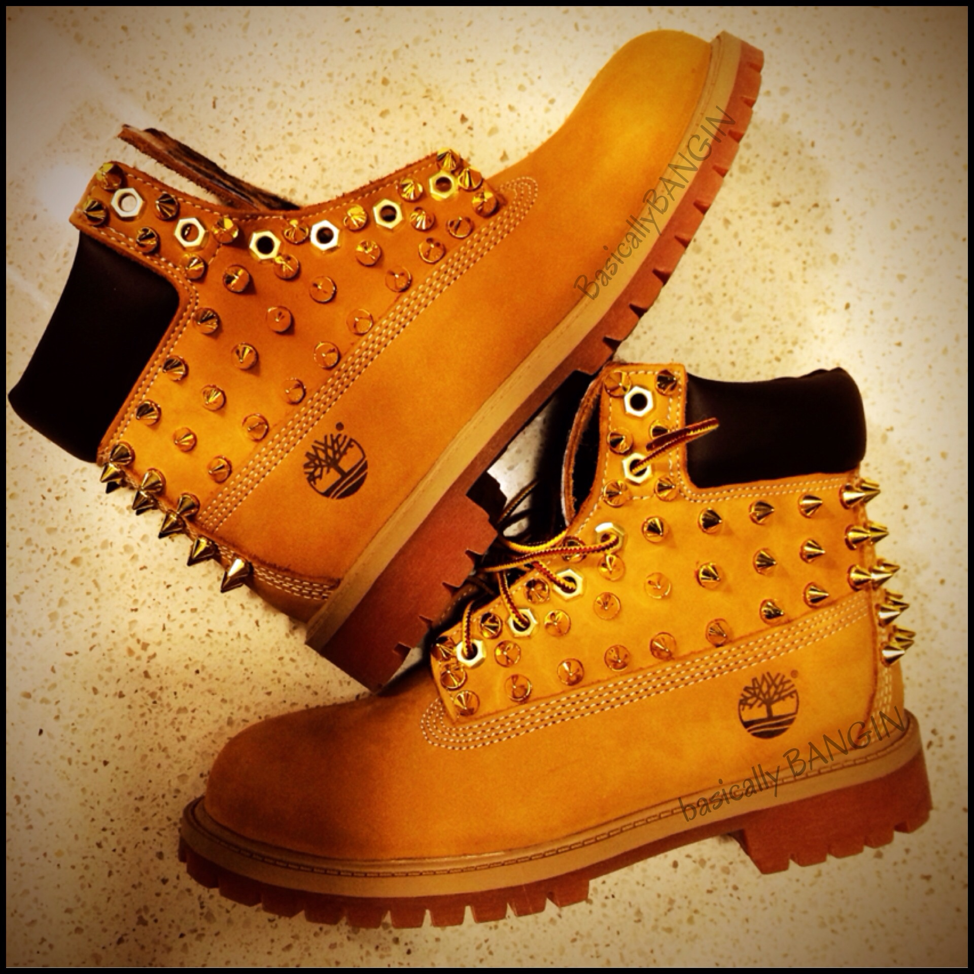 442d3776d756 Wheat   Leopard Gold Spiked Timberlands (TODDLER SIZES 4-12) on Storenvy