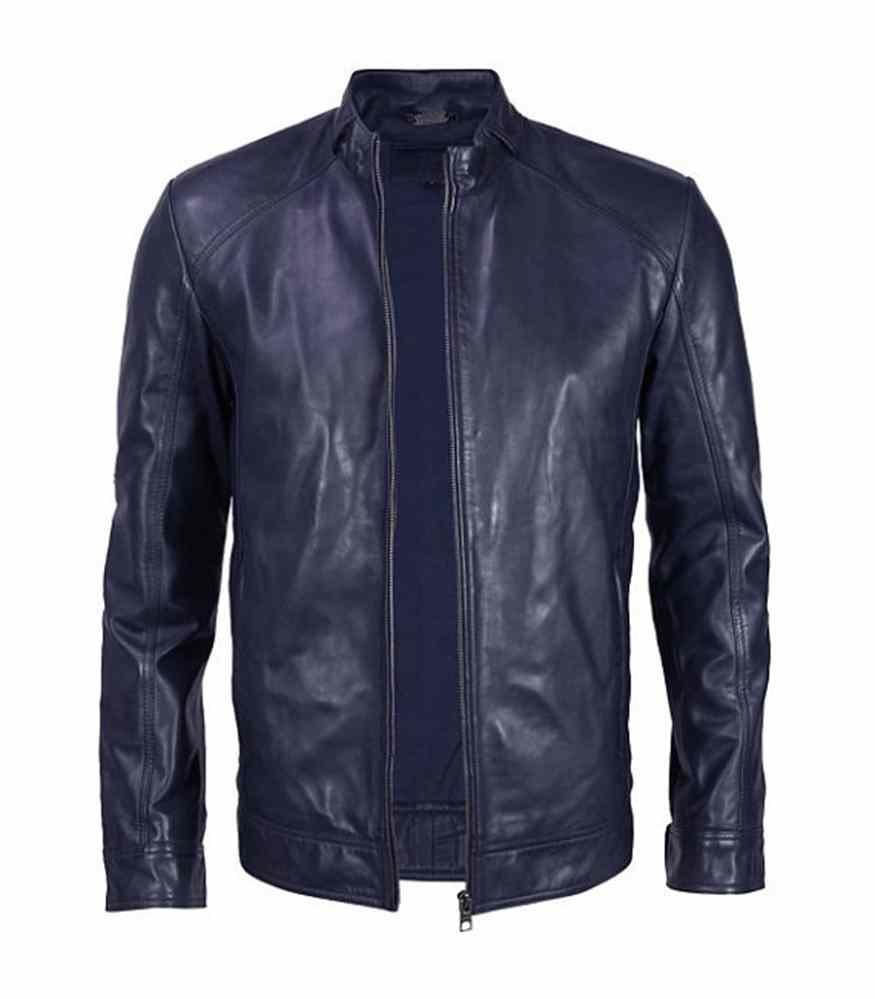 b6eafd677e Handmade Men blue leather jacket , blue men leather jacket · Rangoli ...