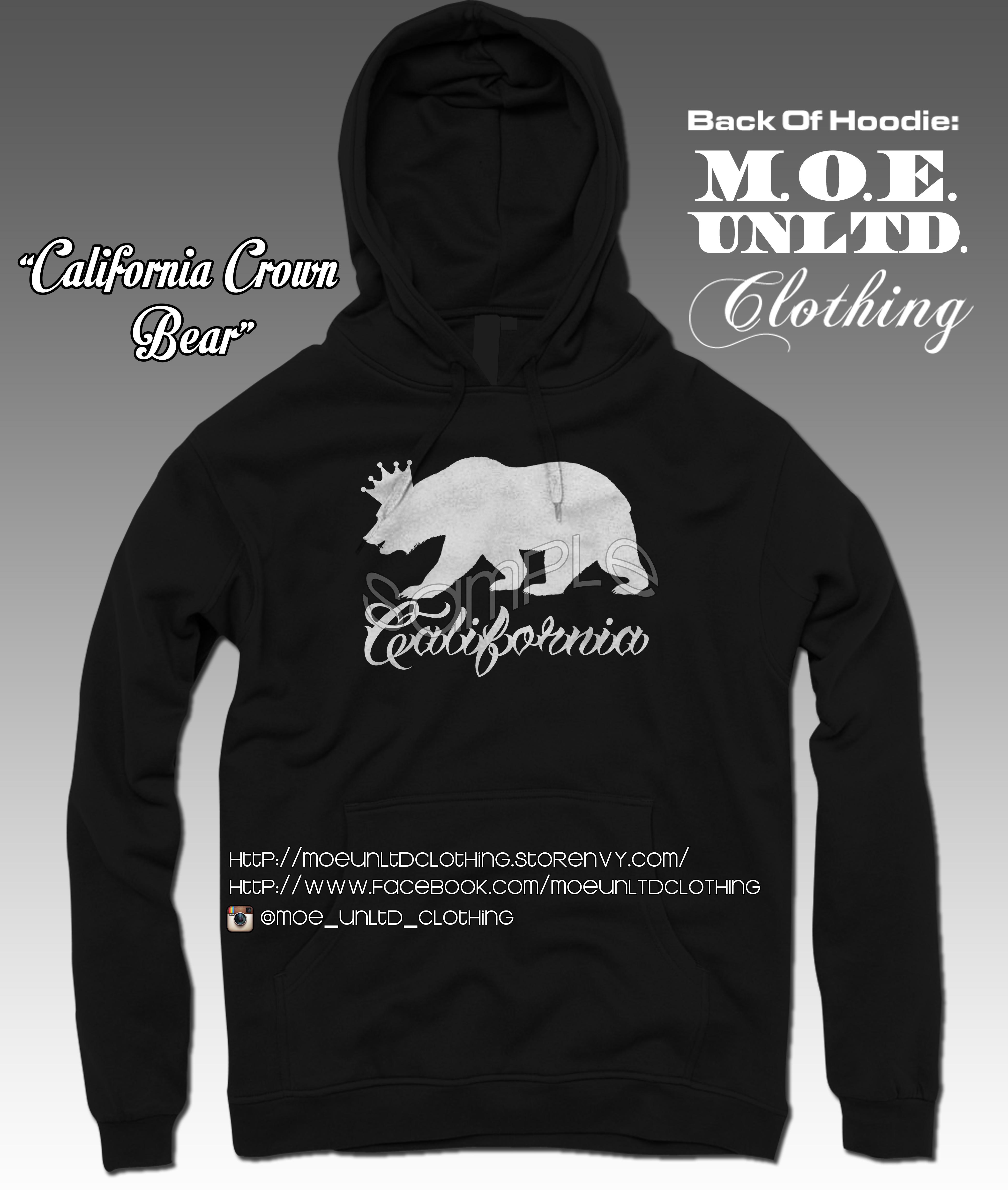 Adult sweatshirt bear Black
