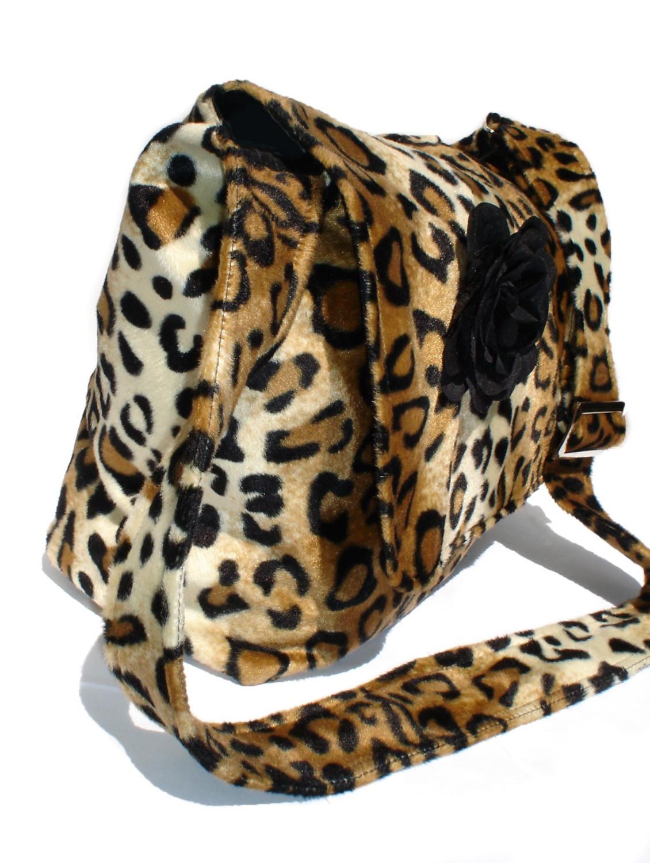 39d25b5c7ffe Rockabilly Bag   Purse Leopard faux w  Flower Large Diaper Bag  Messenger  bag ...