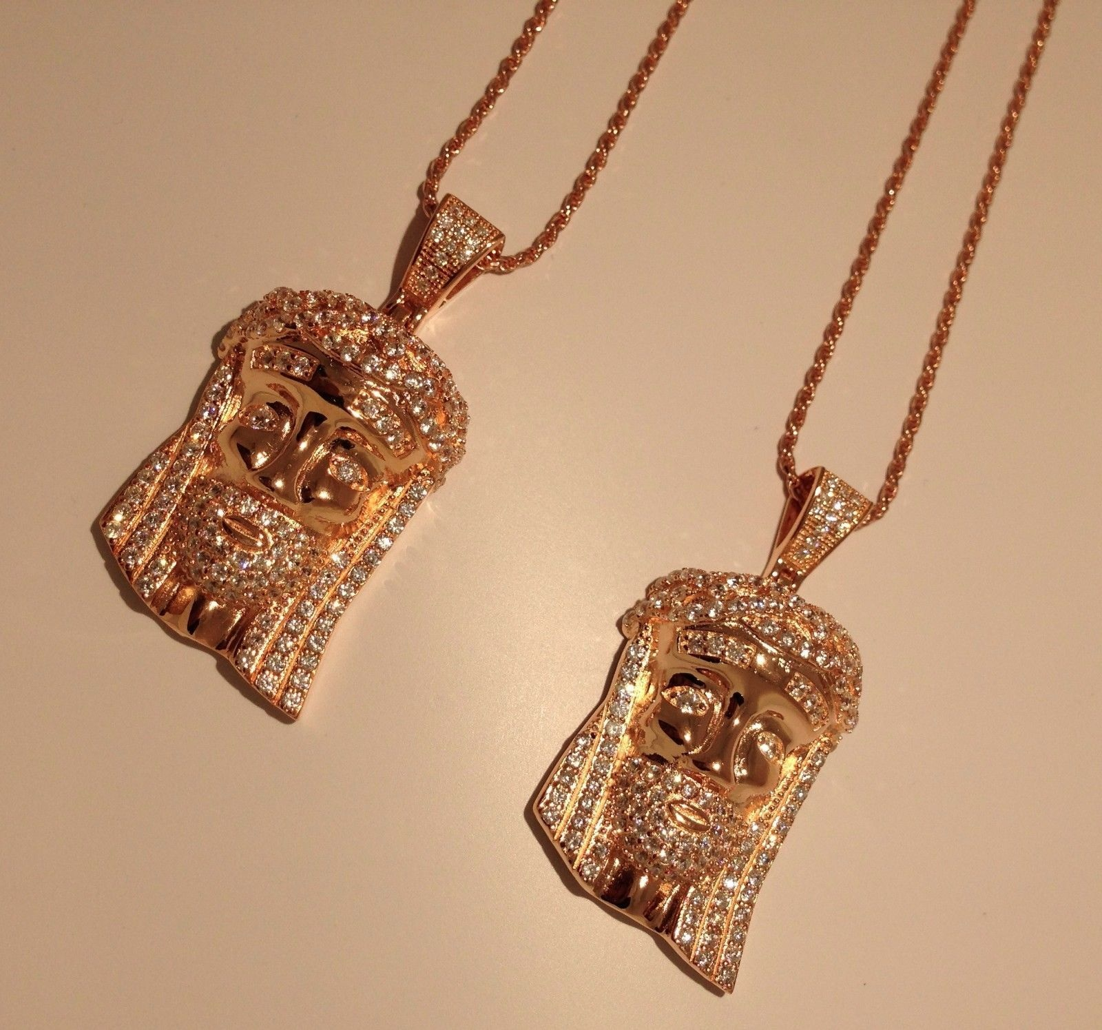 Rose Gold Diamond Cut Rope Chain