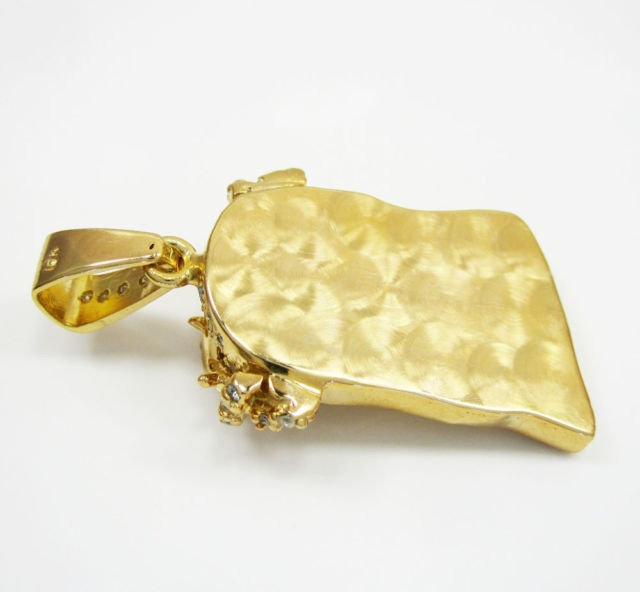 200ct mens ladies mini 14k yellow real gold jesus head charm 200ct mens ladies mini 14k yellow real gold jesus head charm diamond pendant thumbnail aloadofball Image collections