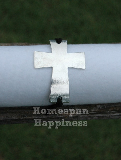 Curved Silver Cross