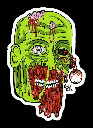 Colby phillips colby zombie full color shaped vinyl sticker