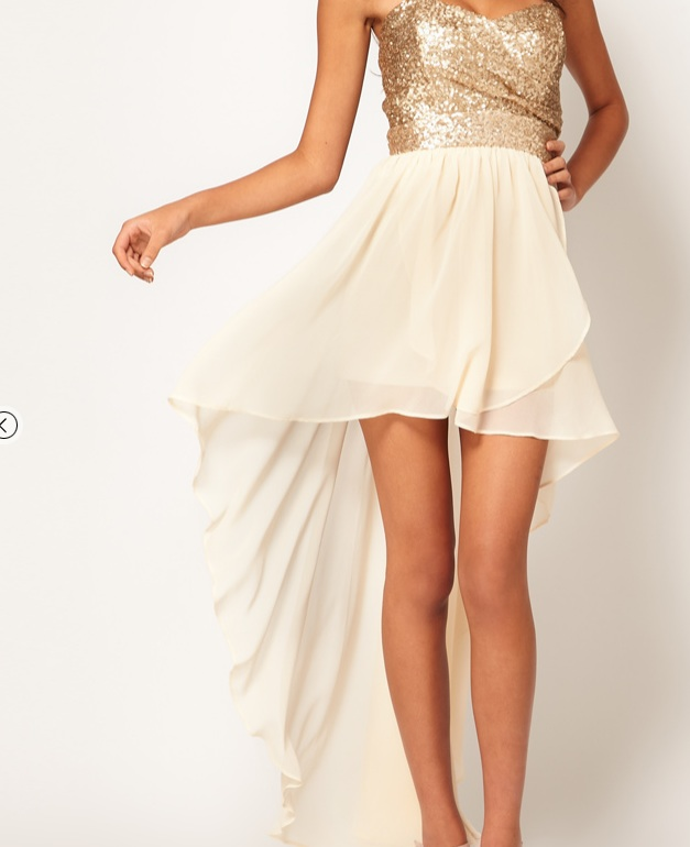 a2457d0a4 Unknown | Hi-Lo Dress Gold/Cream | Online Store Powered by Storenvy