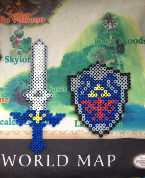 Master Sword Amp Shield Perler Beads On Storenvy