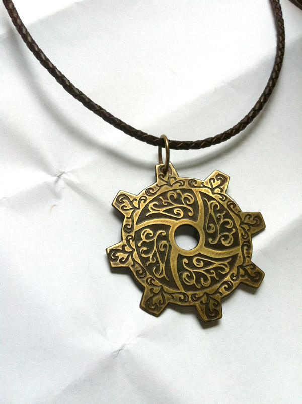 by gear collectibles key necklace steampunk fm p pendant medieval