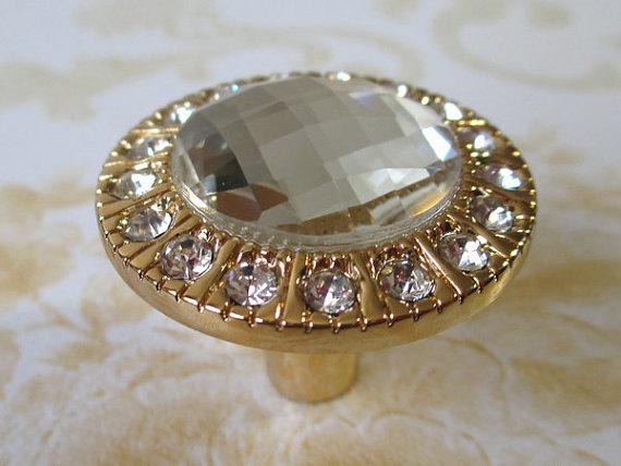 Good Gold Glass Knob Dresser Knobs Crystal Drawer Knob Pulls Cabinet Handles  Clear   Thumbnail ...