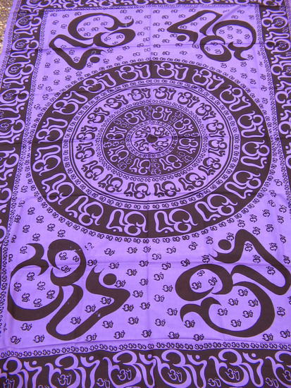 Om aum yoga indian hindu chakra purple hippie boho india for Aum indian cuisine