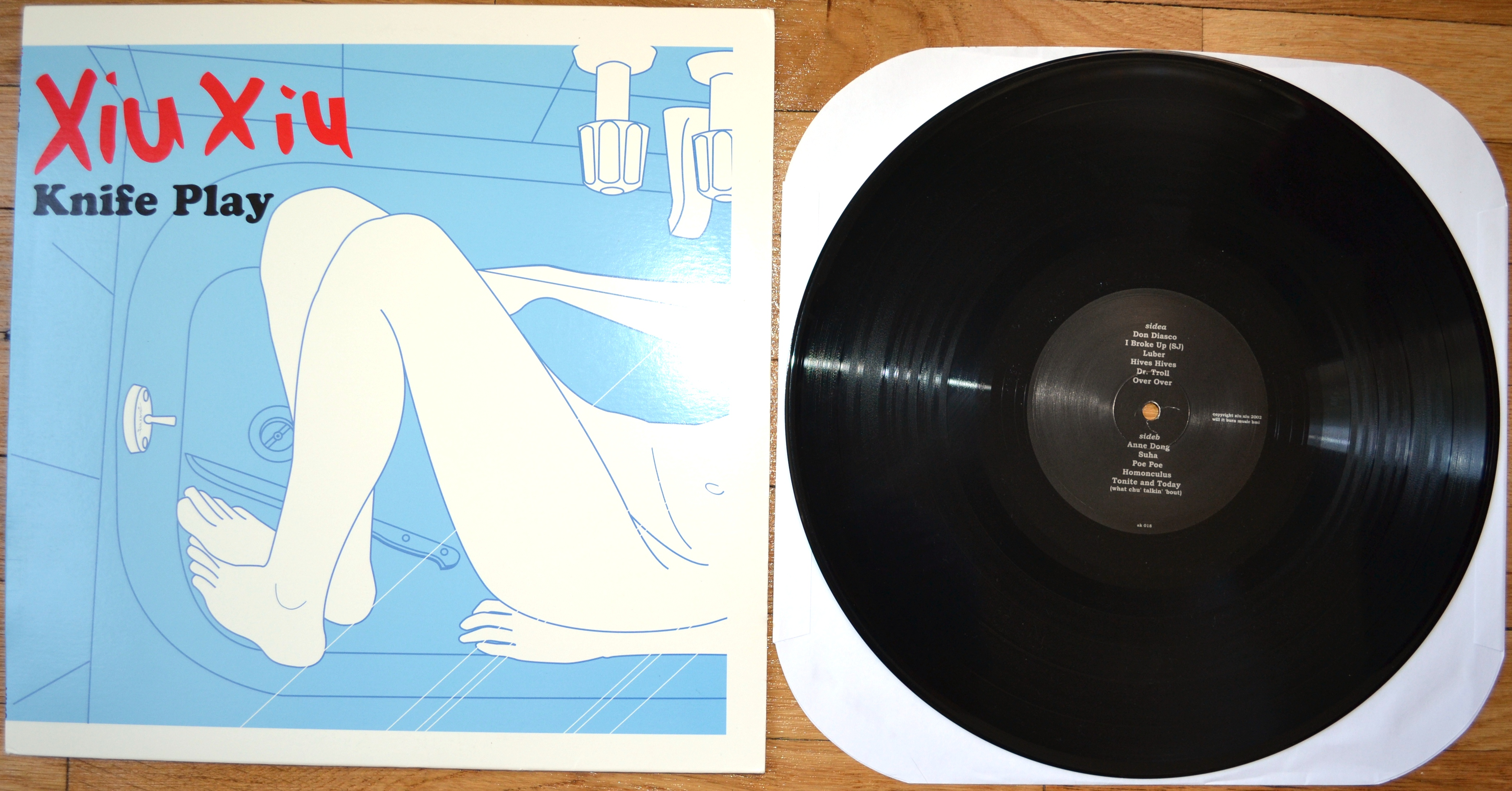 xiu xiu knife play vinyl lp revealed records online store powered by storenvy. Black Bedroom Furniture Sets. Home Design Ideas