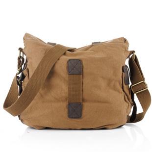 "2f4054389d Vintage Leather Mens Chocolate Laptop Briefcase Messenger Bag. half off  734b6 0557a 14"" Vintage leather and canvas messenger bags mens – Thumbnail  … ..."